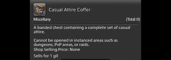 FFXIV 5.41 How to get the Casual Attire Coffer - Final Fantasy XIV
