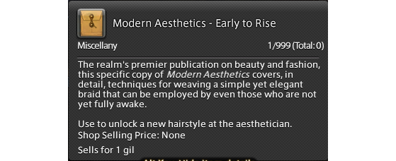 FFXIV 5.45 Guide: unlock Early to Rise hairstyle — Modern Aesthetics - Early to Rise - Final Fantasy XIV