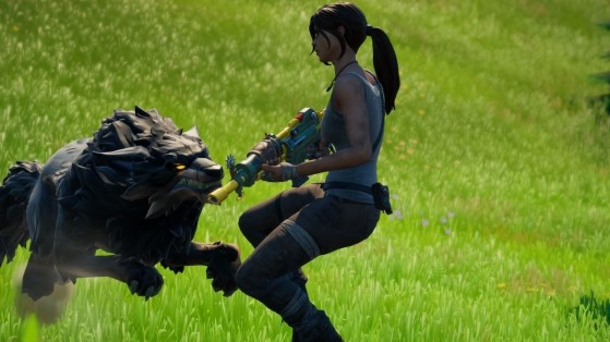 Fortnite Season 6 Spire Quest: Harvest a wolf fang, a boar tusk, and three chicken feathers