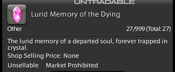 FFXIV 5.55 Lurid Memory of the Dying Quick Farm - Final Fantasy XIV