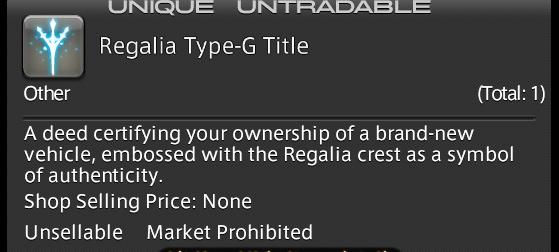 FFXIV how to get the Regalia - Final Fantasy XIV