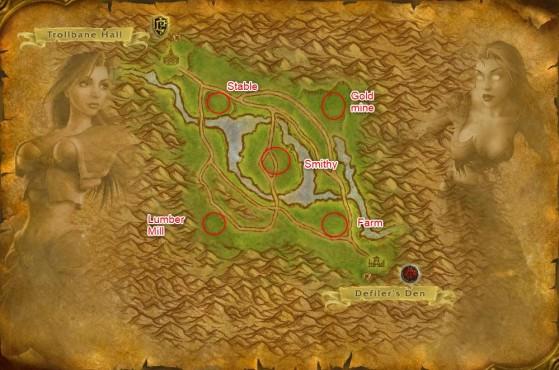 Arathi Basin locations - World of Warcraft: Classic