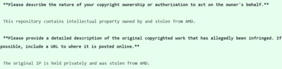 AMD's DMCA request - Millenium