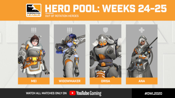 Overwatch League: Week 24-25 Hero Pool Rotation