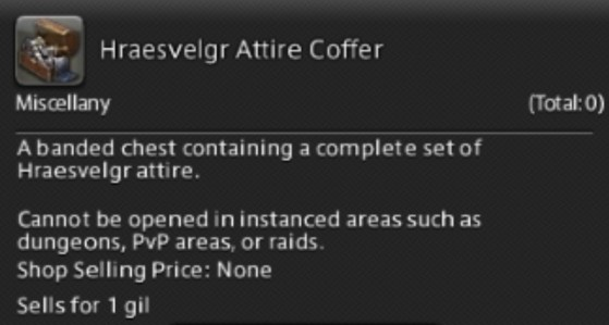 FFXIV 5.31 How to get the Hraesvelgr attire coffer - Final Fantasy XIV