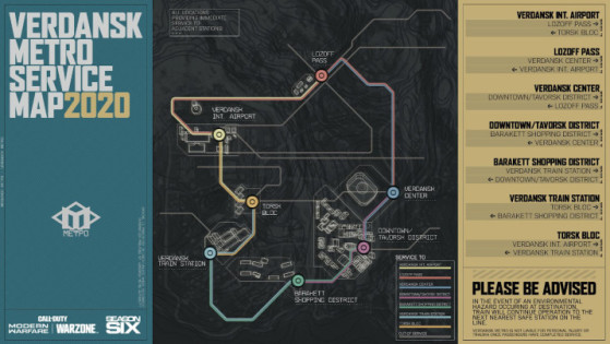 Subway Stations Map.Warzone Season 6 The Verdansk Metro And Map Changes Millenium