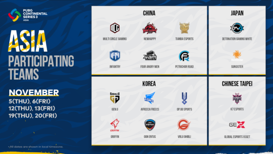 PUBG: PCS3 Asia Teams - PUBG