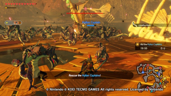 Save the Hylian Captains in battle - Hyrule Warriors: Age of Calamity