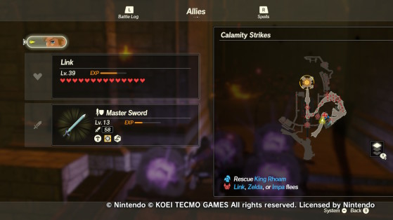 The first objective in the Calamity Strikes mission. - Hyrule Warriors: Age of Calamity