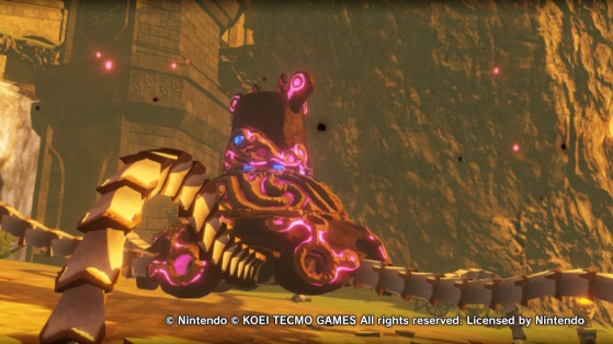 The guardian in Hyrule Warriors: Age of Calamity - Hyrule Warriors: Age of Calamity