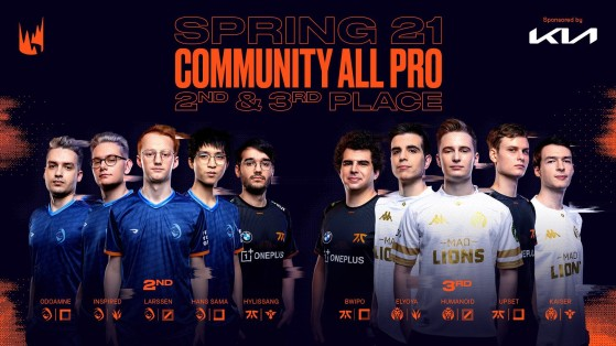 Community All-Pro Second and Third Teams - League of Legends