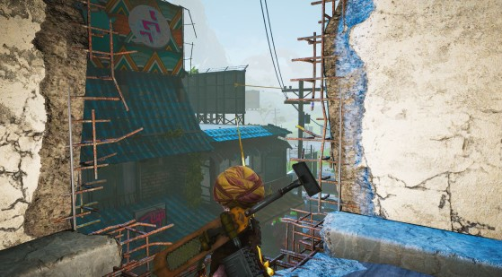 Take the two zip lines - Biomutant