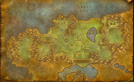 Location of Scarlet Monastery - World of Warcraft: Classic