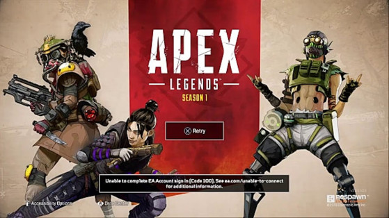 Apex Legends: EA sign in code 100 on PS4, Xbox, and PC