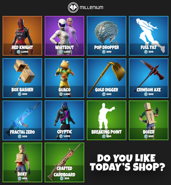 Today shop Fortnite - Fortnite Battle Royale