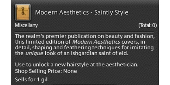 FFXIV 5.31 Saintly Style Modern Aesthetics Unlock Guide - Final Fantasy XIV