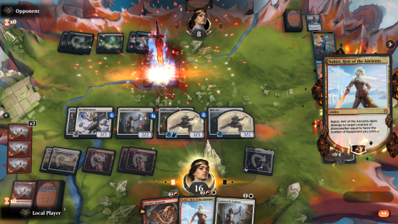 A screenshot of Magic the Gathering Arena play. Source: Hasbro - Millenium