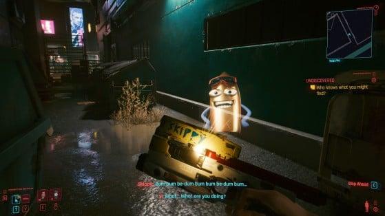 Cyberpunk 2077: How to get the best handgun, Skippy