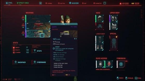 Skippy stats Cyberpunk 2077 - Cyberpunk 2077