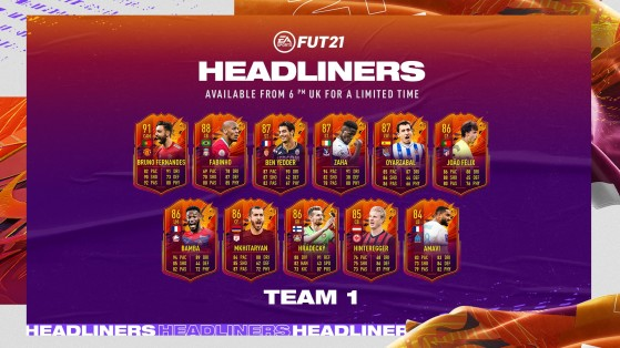FUT 21: Headliners, Players, Promotion, Complete Team
