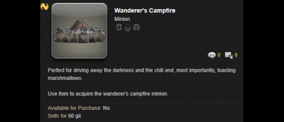FFXIV How to get the Campfire Minion - Final Fantasy XIV