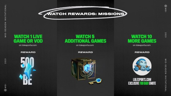 The in-game rewards you're guaranteed to get by watching MSI. - League of Legends
