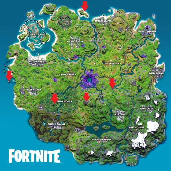 Alien Artifact locations in Fortnite - Fortnite