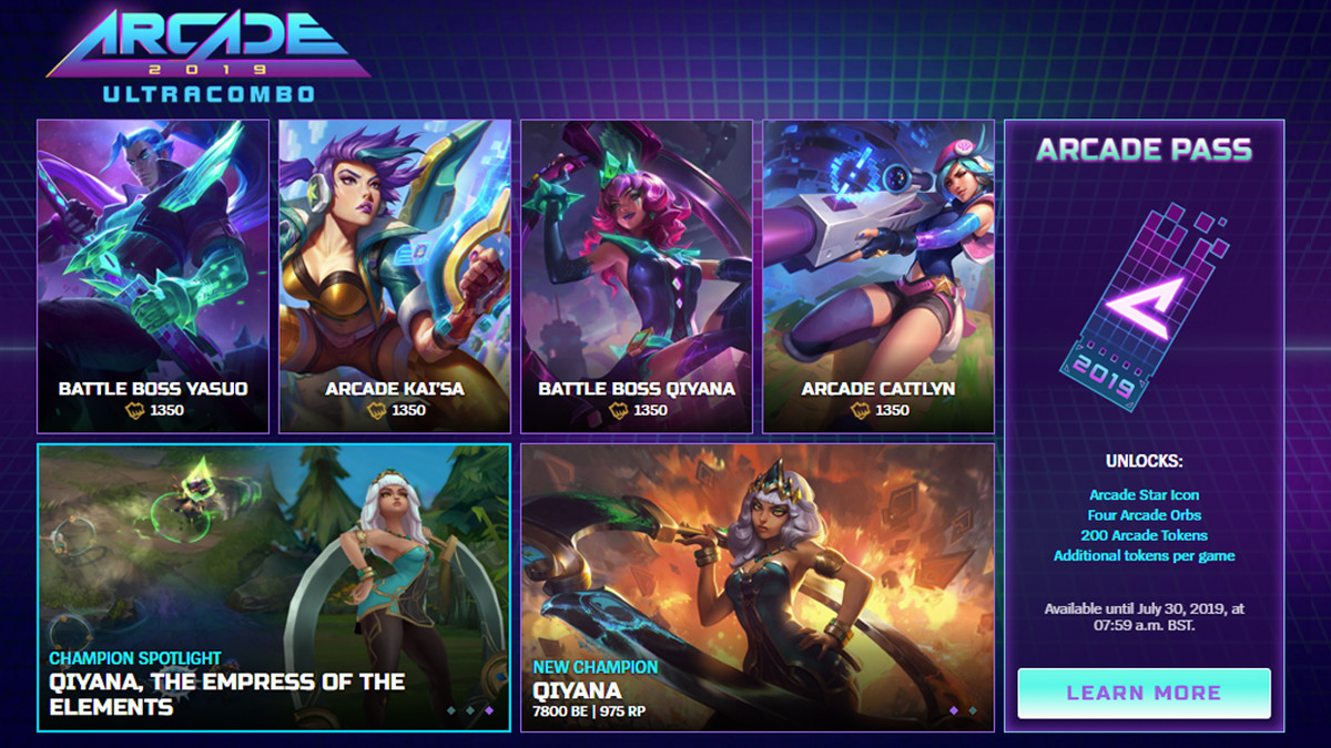 Arcade battle league of legends