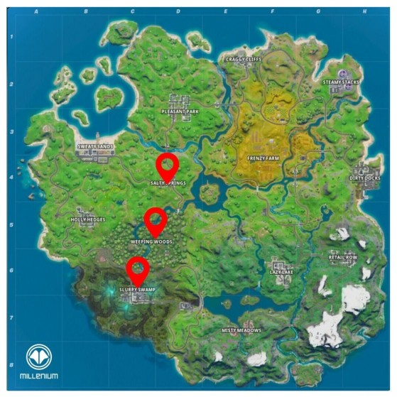 How Many Named Locations In Fortnite Season 7 Fortnite Guide Visit Named Locations In A Single Match Millenium