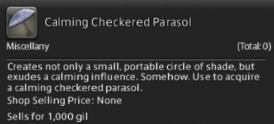 FFXIV 5.31 Calming Checkered Parasol Unlock Guide - Final Fantasy XIV