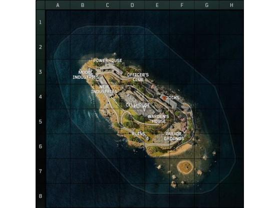 The Alcatraz map. - Call of Duty: Modern Warfare