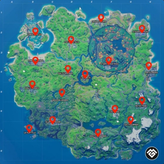Where Are The Fortnite Letters Season 4 Fortnite Season 4 Week 8 Challenges Visit Different Named Locations In A Single Match Millenium