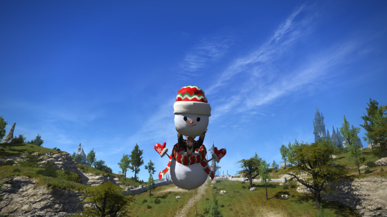 FFXIV Snowman Mount - Final Fantasy XIV