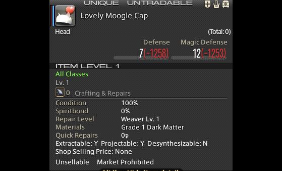 FFXIV Lovely Moogle Hat - Final Fantasy XIV