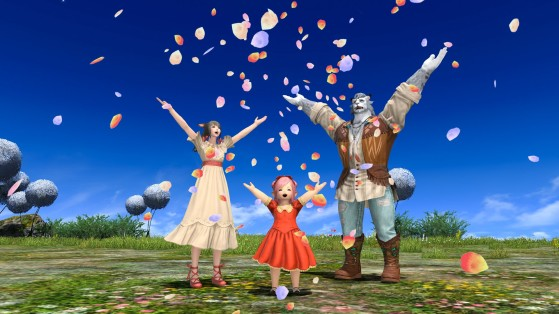 FFXIV new optional item: The Flower Shower and Resshi Attire are available now