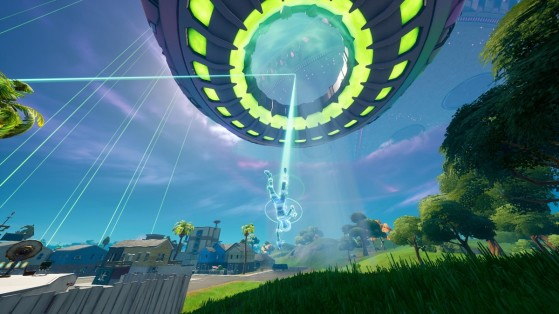 Fortnite Week 4 Challenge: Experience low gravity with Alien Nanites or on the Mothership