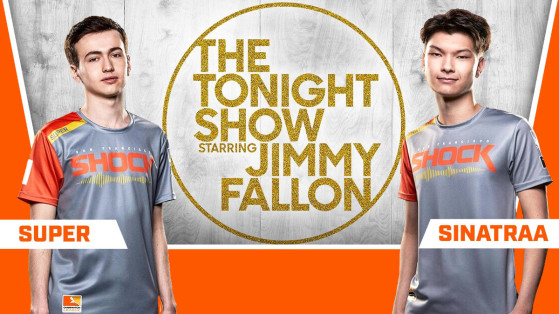 Overwatch League champs Sinatraa and Super on Jimmy Fallon's Tonight Show