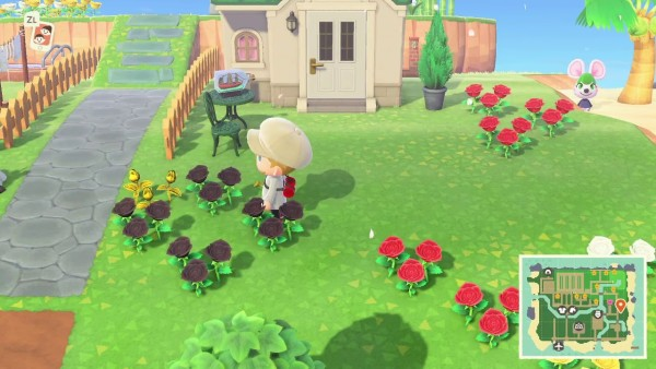 white flowers design animal crossing