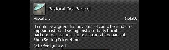 FFXIV 5.41 Guide: Pastoral Dot Parasol - Final Fantasy XIV