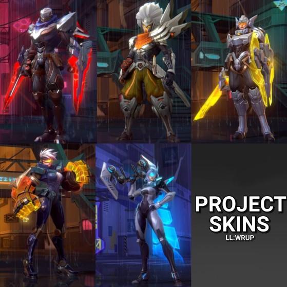 PROJECT skins for Zed, Yasuo, Leona, Vi, Ashe - Wild Rift