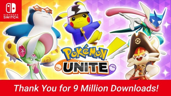 9 million downloads for Pokemon Unite on Switch