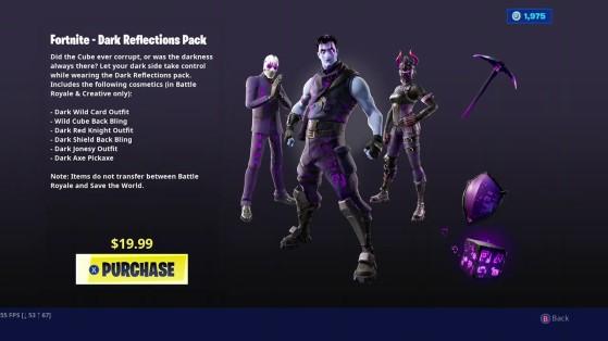 New Fortnite Dark Reflections Pack Millenium